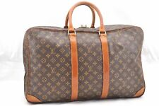 Auth Louis Vuitton Monogram Sirius 55 Travel Hand Bag 2compartments LV 54559