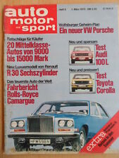 AUTO MOTOR UND SPORT 1.3. - 5/1975 ** Rolls-Royce Camargue Renault R 30 Speedway