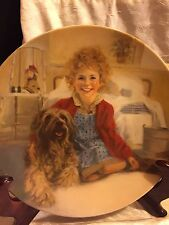 """Knowles Collectors plate, William Chambers """"Annie and Sandy"""" Papers, signed"""