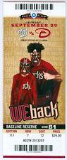 2013 Diamondbacks vs Nationals Ticket:  Davey Johnson's Final Game as Manager