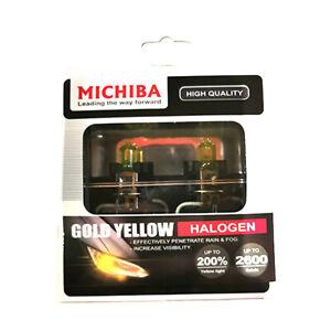 1Michiba H3 12v 55w 2600K Gold Vision Bulbs (Yellow)