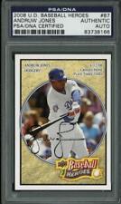 Dodgers Andruw Jones Signed Card 2008 U.D. Baseball Heroes #87 PSA/DNA Slabbed