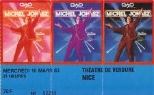 ticket billet stub used place concert MICHEL JONASZ 1983 NICE