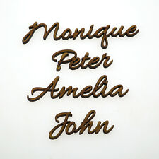 Wedding Seat Place Names, Name Place Cards, Custom Wooden Laser Cut Names