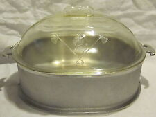 Guardian Ware Roaster with Glass Lid & Metal Serving Tray