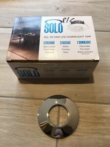 Solo 10w LED Downlight Chrome Bezels (Spotlight AC Covers Brite Source)