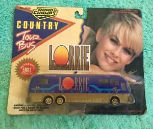 """1994 NEW ROAD CHAMPS 1/64th scale """"LORRIE MORGAN"""" DIE-CAST TOUR BUS [MOC]"""