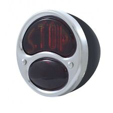 6 VOLT STOP TAIL LIGHT MOTORCYCLE  CHOPPERS BOBBERS CUSTOM BIKES BLACK HOUSING
