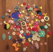 New 100 Lot Flat back Scrapbooking Craft Embellishments Mixed Lot