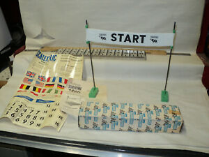 start / finish banner scalextric