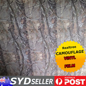 Realtree Xtra Camouflage Camo Vinyl Film Ute Body Wrap Decals No-Free 5M x 1.51M