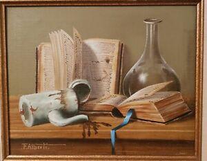 Original Vintage oil Painting by Italian artist FRANCESCO ALBERTI
