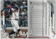 2020 Topps Opening Day Ozzie Albies #71, Atlanta Braves Baseball Card