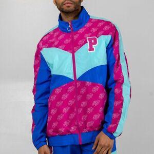 Pink Dolphin Men's Mr Positive Windbreaker Zip Long Sleeve Jacket Pink Blue NWT