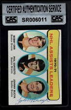 1970-71 TOPPS #2 JOHNNY BUCYK CAS AUTHENTIC AUTOGRAPH SIGNATURE AX3130