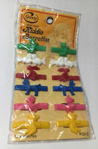 Vintage 1975 Goody USA Kiddie Barrettes Animals #5512 New Sealed Package