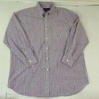 Ralph Lauren Purple Label Plaid Dress Shirt Cotton XL