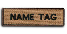 CUSTOM Your Name Tag Military PATCH Embroider Airsoft Biker HOOK & LOOP / IRON