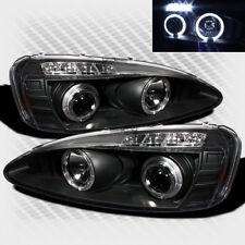 For 04-08 Pontiac Grand Prix Twin Halo LED Pro Headlights Black Head Lights