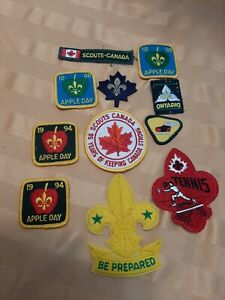 Vintage Boy Scouts Patches, Canada