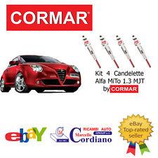 KIT 4 CANDELETTE ALFA ROMEO MITO 1.3 MJT JTD DA ANNO 2009 CORMAR