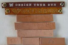 "#BR13 DESIGN YOUR OWN  BRACELET 1"" wide custom color , length & lettering"