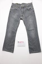 Lee denver nero accorciato bootcut jeans usato (Cod.H1295) Tg.48 W34 L34