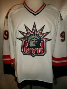 Wayne Gretzky New York Rangers White 1998-1999 Statue of Liberty CCM NHL Jersey