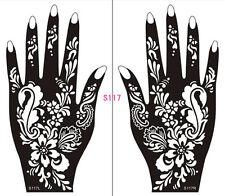 Henna decal stencil body jewllery self adhesive hand S117