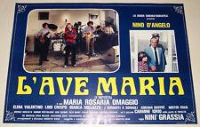 3 fotobuste film L'AVE MARIA -L'ARTISTA Nino D'Angelo Maria Rosaria Omaggio 1982
