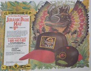 Jurassic Park/McDonald's VERY HARD TO FIND PLACEMAT - BRAND NEW!!