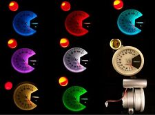 """3-3/4"""" Tachometer Silver with 7 color LED back light and red shift light New"""