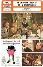 LE CHARME DISCRET DE LA BOURGEOISIE - Rey,Seyrig,Audran,Bunuel(Fiche Cinéma)1972