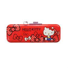 Sanrio Hello Kitty Tin Pencil Case(Box) : Red Ribbon