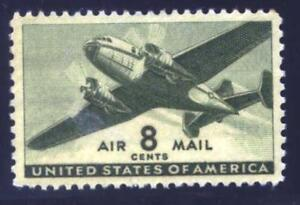US STAMP #C26 8c PLANE - 1941 - XF-SUP - MINT - GRADED 95