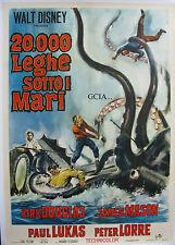 20000 LIEUES SOUS LES MERS-JULES VERNE-1954-ITALIE-R.FLEISCHER-W.D-ENTOILEE -TBE