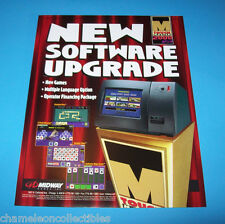 TOUCH MASTER 2000 By MIDWAY ORIGINAL NOS VIDEO ARCADE GAME SALES FLYER BROCHURE