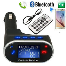 Car Kit Handsfree Calling Bluetooth LCD Display MP3 Player FM Radio Transmitter