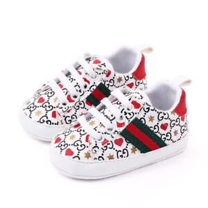 Anti-Slip Toddler Baby Shoes Girl Boy Soft Crib Kids Prewalker Babe 0-18 Months