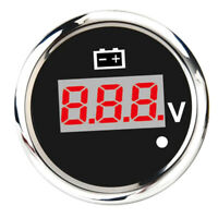 Car/Boat/Marine Digital LED Voltmeter Voltage Display Meter 8-32V 52mm Black