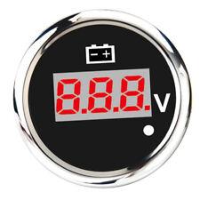 Car/Boat/Marine Digital LED Voltmeter Voltage Display Meter 8-32V 52mm Black