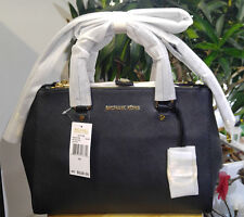 Genuine Brand New Michael Kors Sutton Medium Black Saffiano Leather Tote Bag