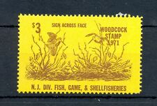 USA REVENUE 1971 -HUNTING - WOODCOCK STAMP - * MH --VF