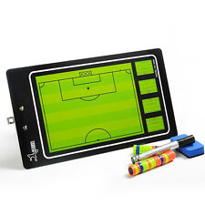 Magnetic Football Soccer Coaching Dry Erase Clipboard Tactical Board PVC Set