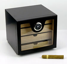 Humidor Schrank Angelo Cabinet schwarz ca 60 Zigarren Acrylpolymere-Befeuchter