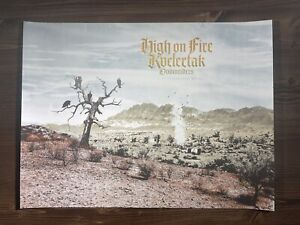 High On Fire Art Print Poster By M.I.D Signed X/95 Asheville NC 11/11/2013
