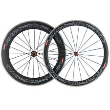 Carbon Wheelset 50mm 80mm F&R Carbon Road Bike Wheels Aluminum Brake Surface
