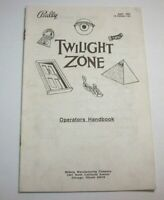 Twilight Zone Pinball Machine Mini Handbook Bally Original 1993 Service Guide