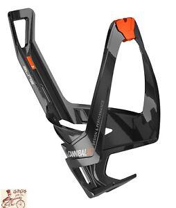 ELITE CANNIBAL XC FIBERGLASS GLOSS BLACK/ORANGE BICYCLE WATER BOTTLE CAGE