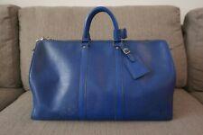 Sale! GUC Authentic Louis Vuitton LV Epi Keepall 45 Denim Blue